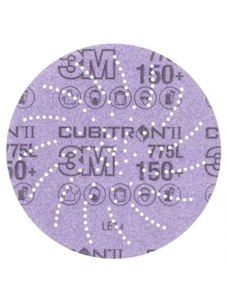 3M™ Cubitron™ II Hookit™ 775L Шлифовальный Круг, 120+, 152 мм, Клин Сэндинг, арт. 86825