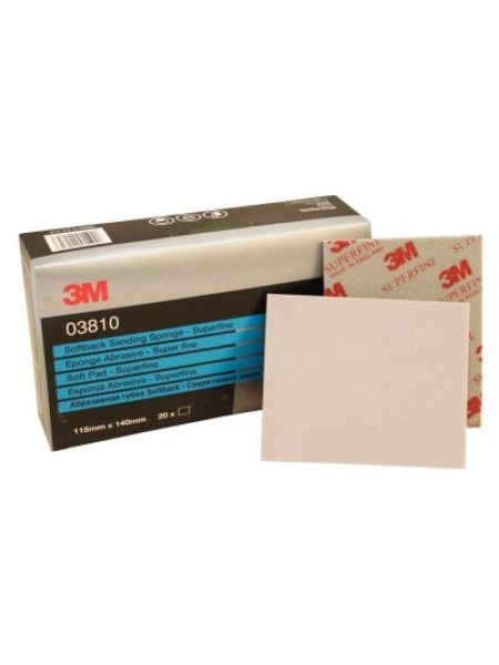 3M™ 03810 Губка Абразивная, супертонкая, 115 мм х 140 мм