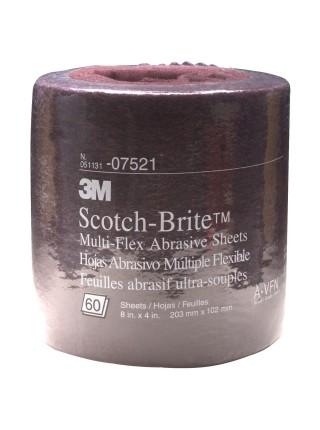 Scotch-Brite™ MX-SR Лист, A UFN серый 200 мм х 100 мм, 60 шт/рул
