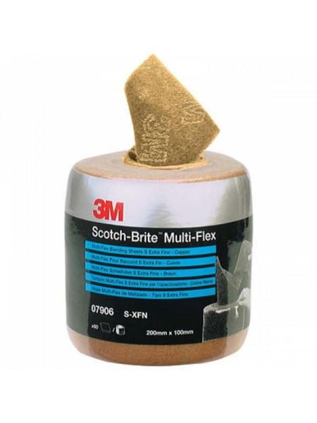 Scotch-Brite™ MX-SR Лист, A XFN, медный, 200 мм х 100 мм, 60 шт/рул