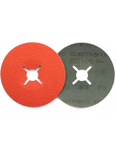 3M™ Cubitron™ II 987C Фибровый Круг, 60+ 125мм