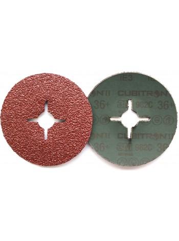 55073 3M™ Cubitron™ II 982C Фибровый Круг, 36+ 125мм ,  Цена за 1 шт. с учетом НДС - 161.03 р.