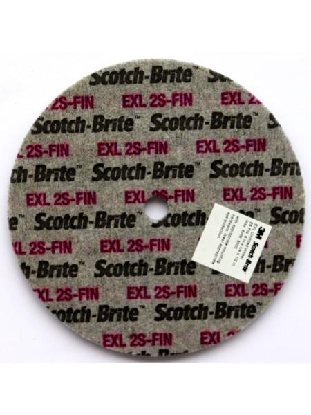 Объемный круг 3М  Scotch-Brite XL-UW  2SFIN 150мм х 6мм х 13мм