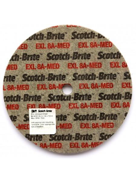 Объемный круг 3М  Scotch-Brite XL-UW  8 AMED 150мм х 6мм х 13мм