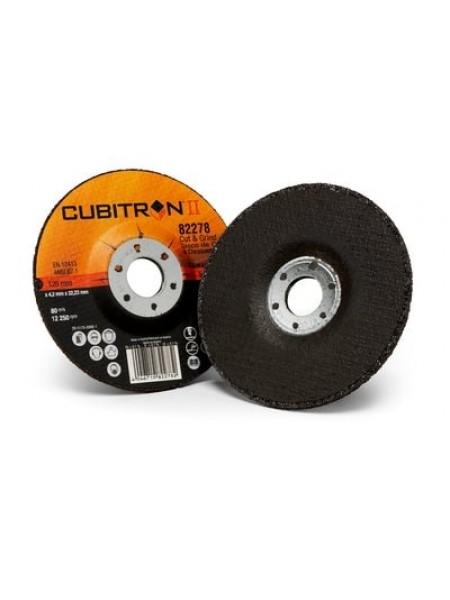№ 81149, 3M™ Cubitron™ II Cut and Grind Зачистной Круг, T27 125 мм х 4.2 мм х 22 мм