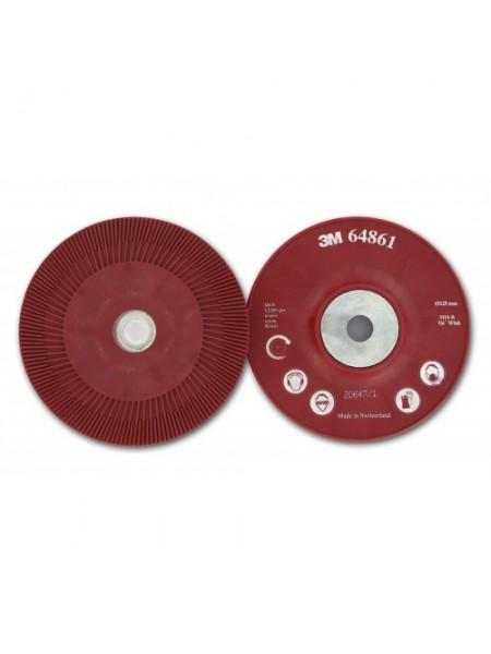 Оправка для фибровых кругов 125мм х 22мм ребристая M14